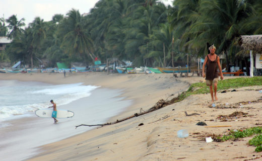 Пляж Аругам в низкий сезон