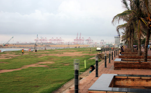 Набережная Коломбо, вид на порт
