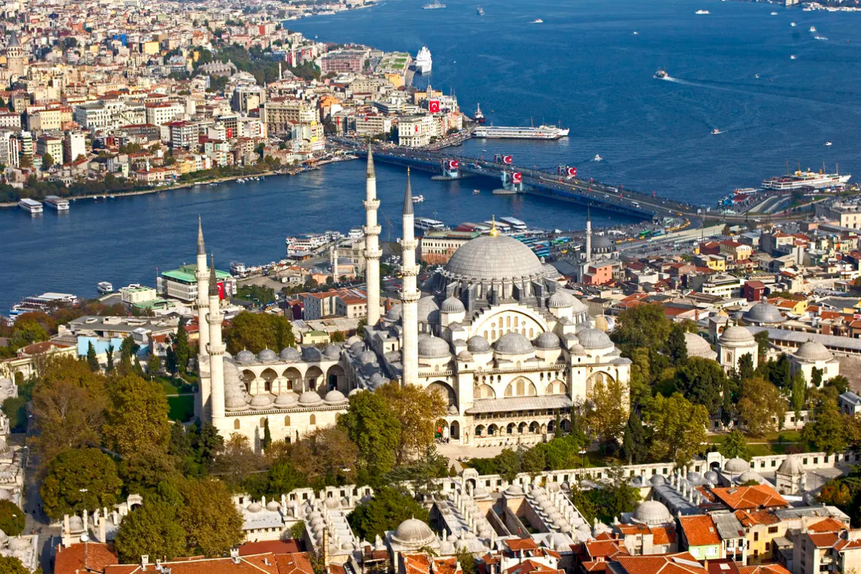 Фото Стамбула с высоты птичьего полёта